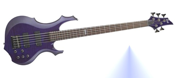 Esp Ltd F-155Dx 5-String Bass Guitar Dark See-Thru Purple